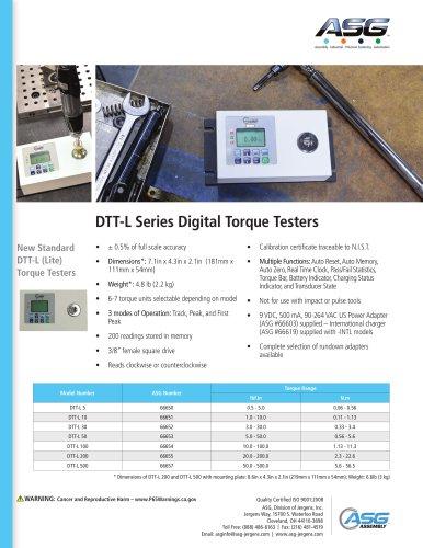 DTT-L Series Digital Torque Testers