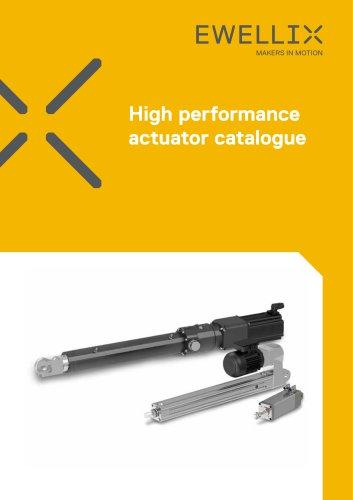 High performance actuator catalogue