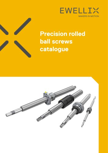 Precision rolled ball screws catalogue