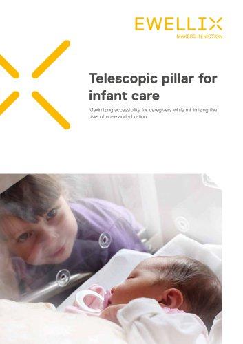 Telescopic pillar for infant care