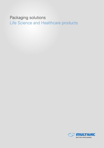 Packaging solutions Life Science and Healthcare products