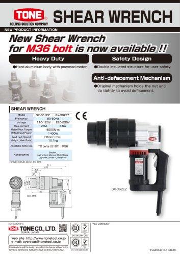 Shear Wrench GX360EZ for TC bolt M36