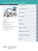 Products for Process Instrumentation - 3