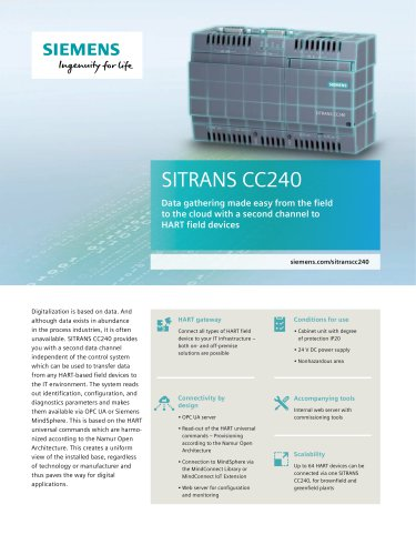 SITRANS CC240