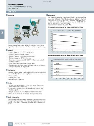 SITRANS FM (electromagnetic) Flow sensors