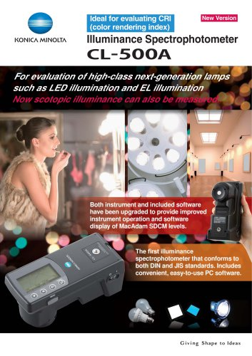 CL-500A ILLUMINANCE SPECTROPHOTOMETER