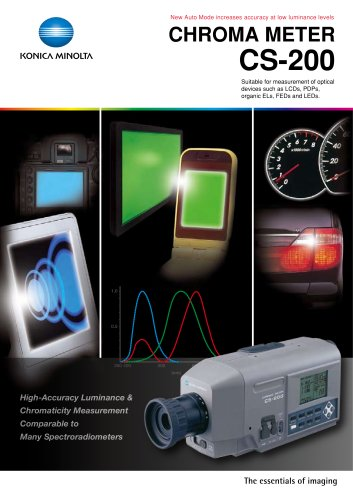 CS-200 Illuminance Meters, Luminance Meters, UV Radiometer