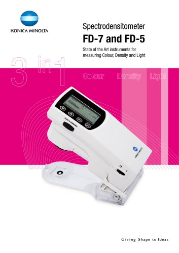 FD-5/FD-7 SPECTRODENSITOMETER