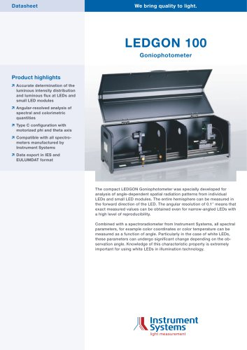 LEDGON LED GONIOPHOTOMETER