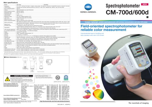 Spectrophotometers / Portable CM-700d/600d