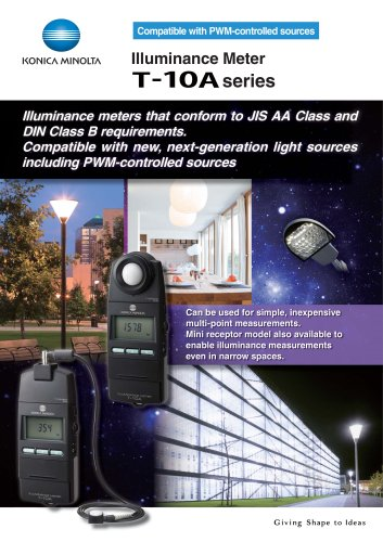 T-10A/T10MA ILLUMINANCE METERS