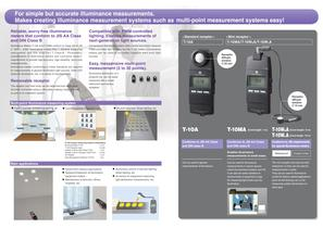 T-10A/T10MA ILLUMINANCE METERS - 2
