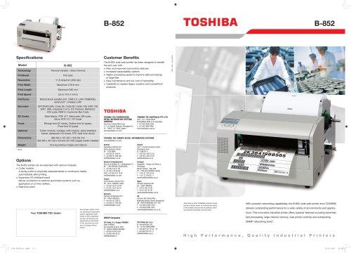 TOSHIBA B-852-R