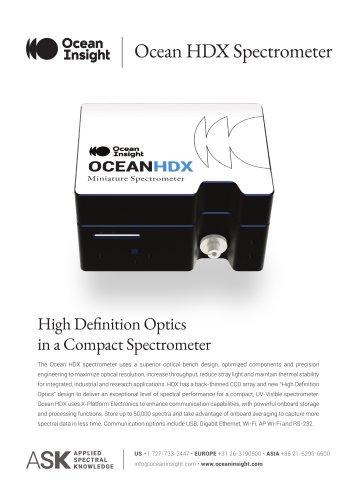 Ocean HDX Spectrometer