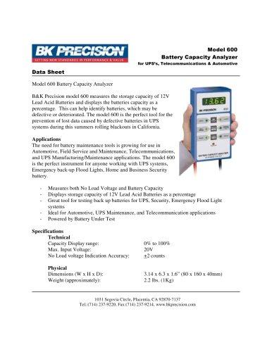 12V SLA Battery Capacity Analyzer