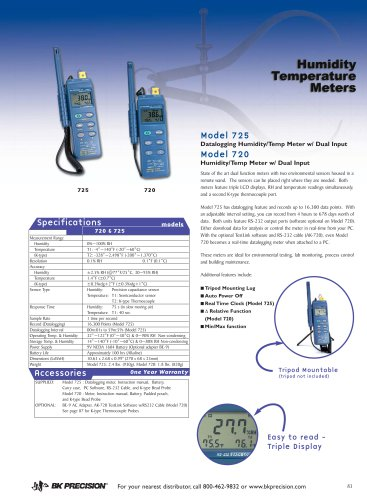 Datalogging Humidity/Temp Meter with Dual Input