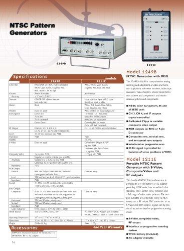 Handheld NTSC Generator