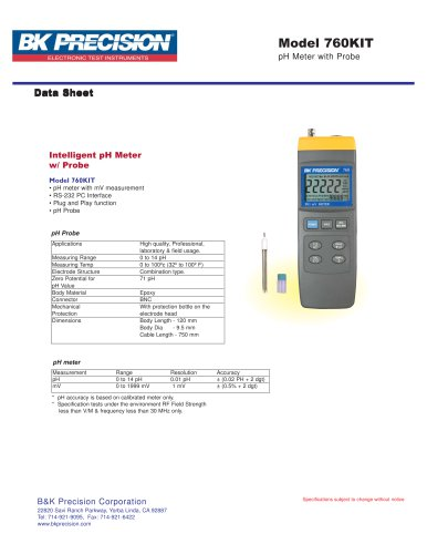Intelligent pH Meter with pH Probe