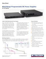 Multi-Range Programmable DC Power Supplies 9115 Series