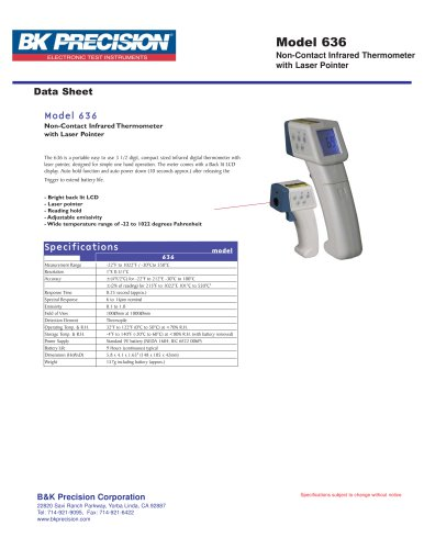 Non-Contact Infrared Thermometer with Laser Pointer
