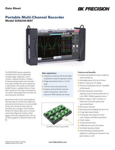 Portable Multi-Channel Recorder Model DAS240-BAT