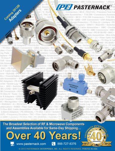 Catalog 2012B - RF Adapters