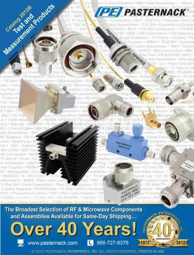 Catalog 2012B - Test and Measurement Products