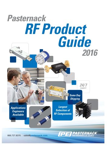 Pasternack RF Product Guide 2016
