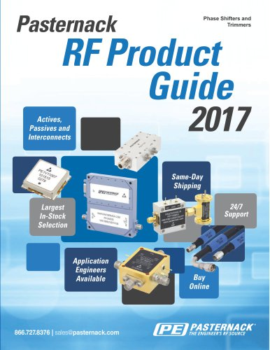 RF Phase Shifters and Phase Trimmers Catalog Pasternack