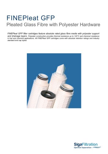 FINEPleat GFP Glass Fibre Media With Polyester Hardware