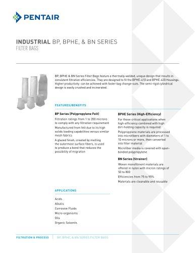 Pentair BP or BN Series Filter bags for PBH housings