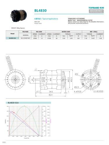 TOPBAND-Brushless DC MOTOR-BL4830