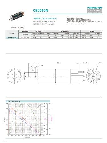 TOPBAND-CORELESS Brushless MOTOR-CB2060N