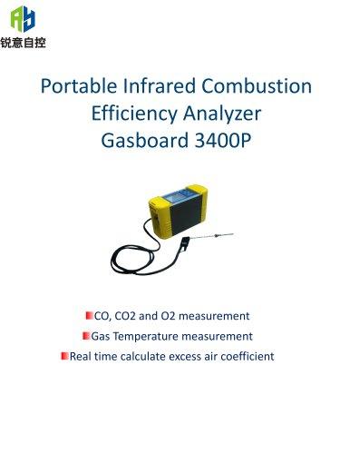 Ruiyi NDIR Portable Combustion Efficiency Analyzer Gasboard 3400P