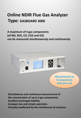 Ruiyi Online Flue Gas Analyzer Gasboard 3000
