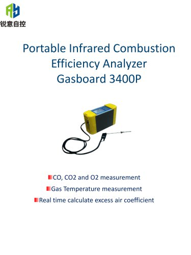 Ruiyi Portable Combustion Efficiency Analyzer Gasboard 3400P