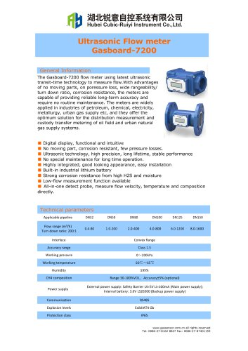 Ruiyi Ultrasonic Flow meter BF-7200