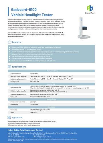 Vehicle Headlight Tester Gasboard-6100