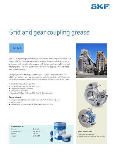 Grid and gear coupling grease LMCG 1