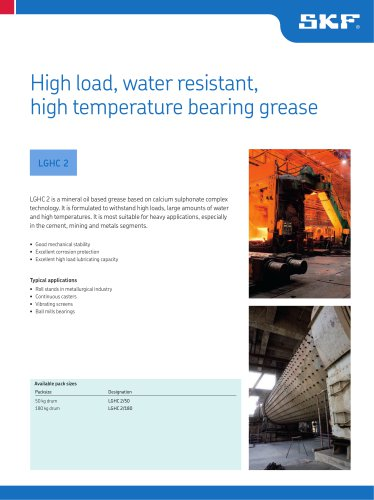 High load, water resistant, high temperature grease