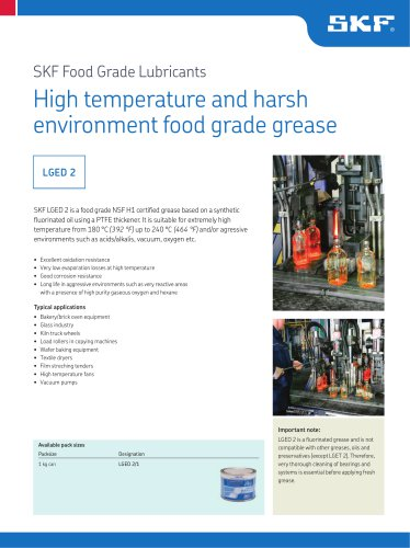 High temperature and harsh environment food grade grease LGED 2