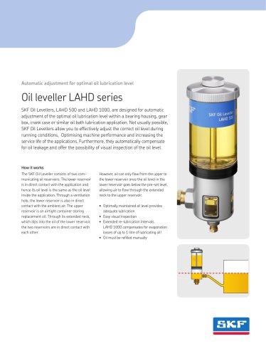 Oil leveller LAHD series