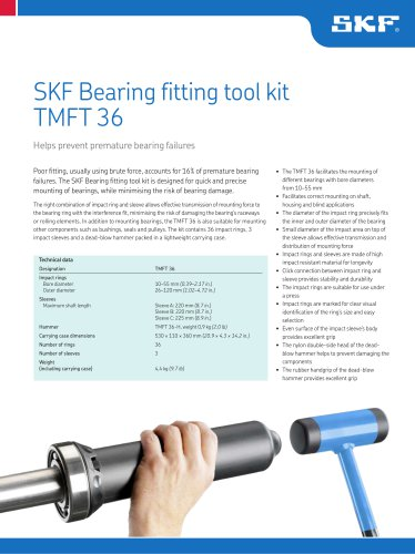 SKF Bearing Fitting Tool Kit TMFT 36