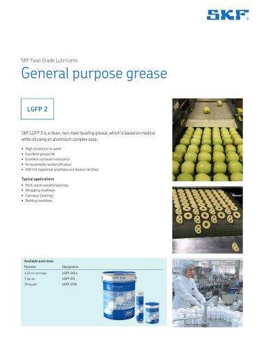 SKF Food Grade Lubricants General purpose food grade grease LGFP 2