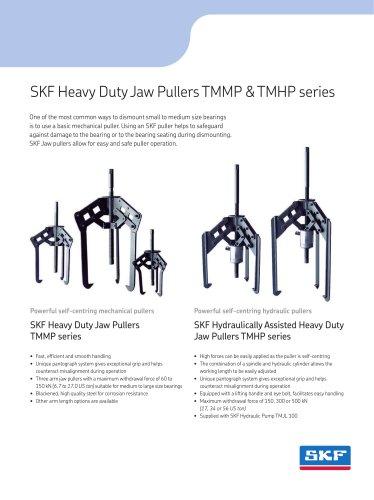 SKF Heavy Duty Jaw Pullers TMMP & TMHP series