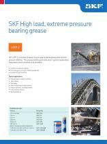 SKF High load, extreme pressure bearing grease LGEP 2