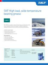 SKF High Load, Wide Temperature Bearing Grease LGWM 2