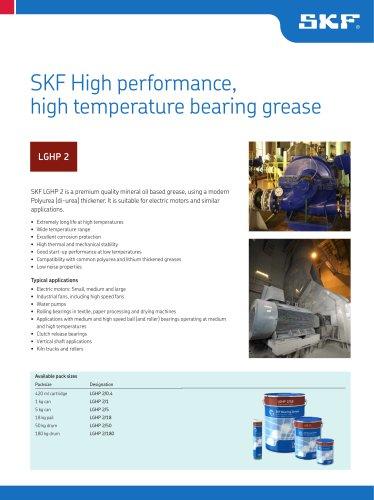 SKF High Performance, High Temperature Bearing Grease LGHP 2