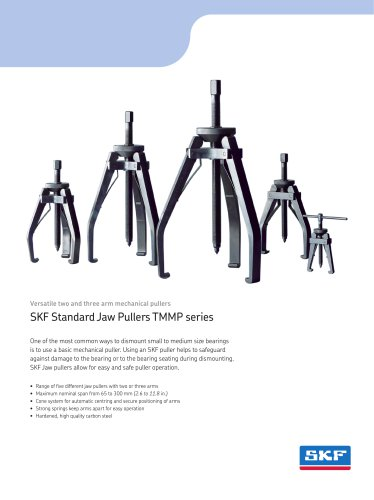 SKF Standard Jaw Pullers TMMP series - SKF Maintenance and