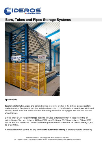 Bars, Tubes and Pipes Storage Systems